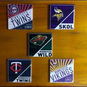 Minnesota Sports Ceramic Coasters